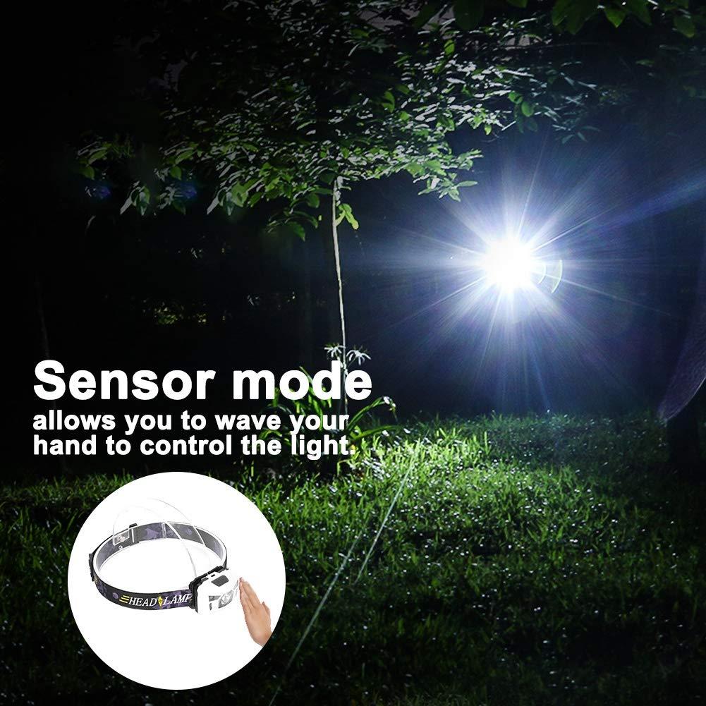 Pescar de Noche etc. Ciclismo Nocturno Caminar Linterna LED ultrabrillante de 3 vatios Luz de Carga a Prueba de Agua con Carga USB para Explorar Cuevas Blanco Cazar Acampar patrullar