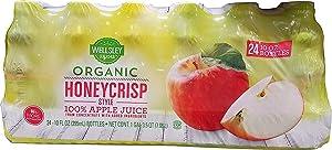 Wellsley Farms Organic Honeycrisp Apple Juice, 24 pk./10 oz.