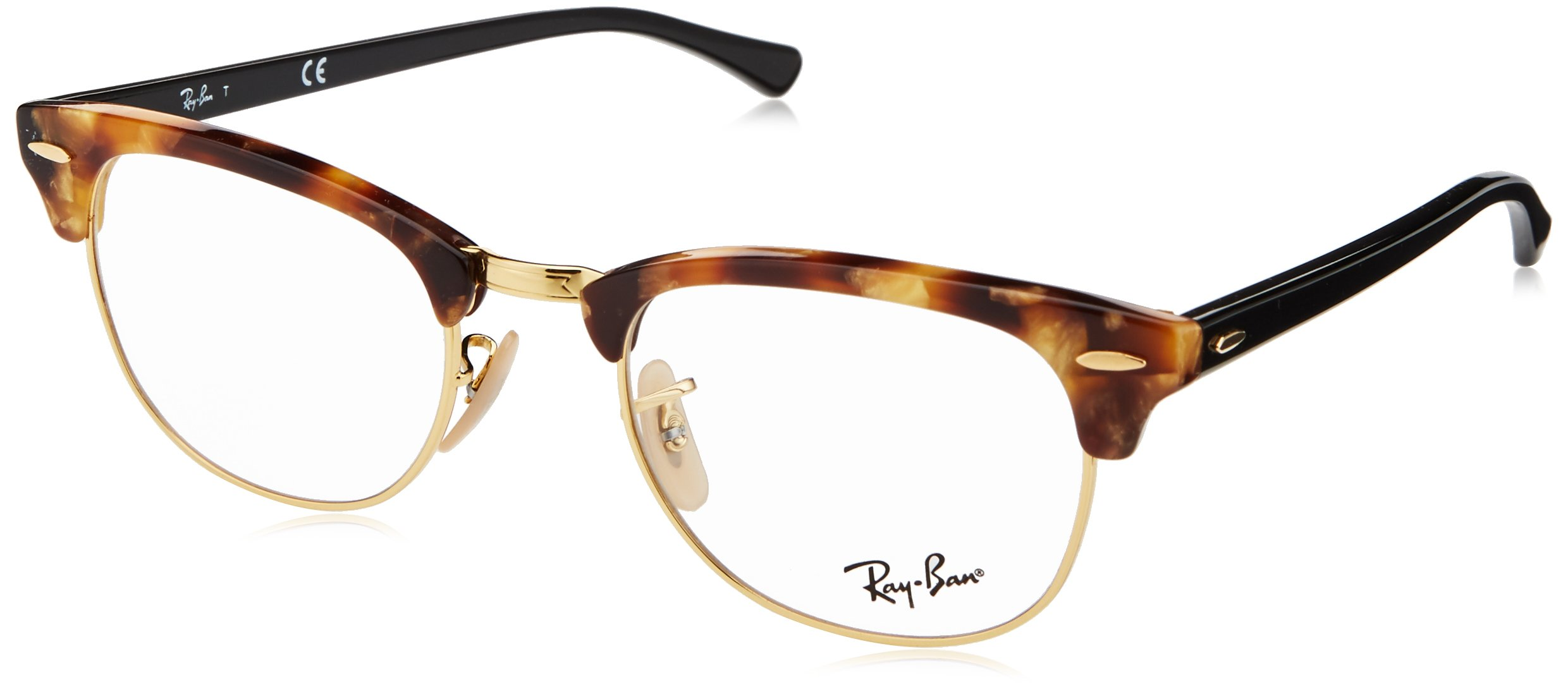 Ray-Ban RX5154 Clubmaster Eyeglasses Brown Havana 51mm