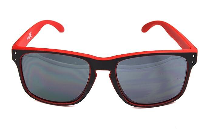 ORIGINAL TORGOVE® 3er Pack Wayfarer Sonnenbrille - Retro Vintage - Rot-Grün-Neongrün / Damen / Herren / Unisex WLK8u