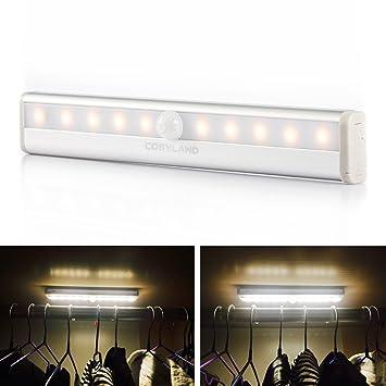 COSYLAND LED Luz Sensor de Movimiento Inducción del Cuerpo Humano Lámpara Nocturna Dos Modos de Iluminación
