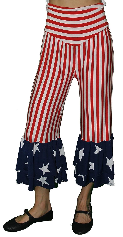 NEW Zen Spell Patriot Pants Red White Blue Stripe Size S-L
