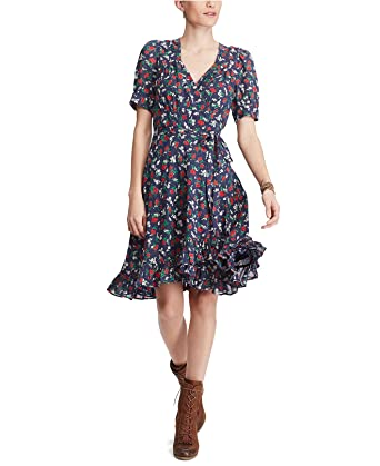 792851bfd4 Image Unavailable. Image not available for. Color  Denim   Supply Ralph  Lauren Women s Floral-Print Cotton Wrap Dress ...