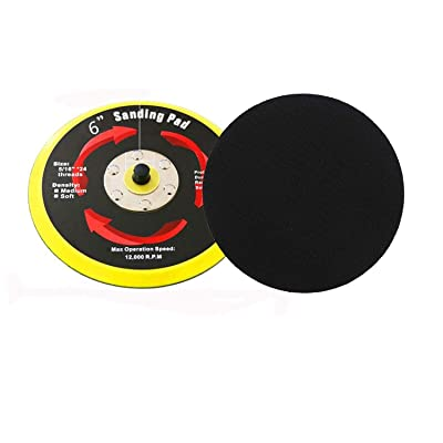 SHININGEYES 6 Inch PU Hook&Loop Backer Backing Pad for Air Sander and Dual Action Car Polisher: Automotive