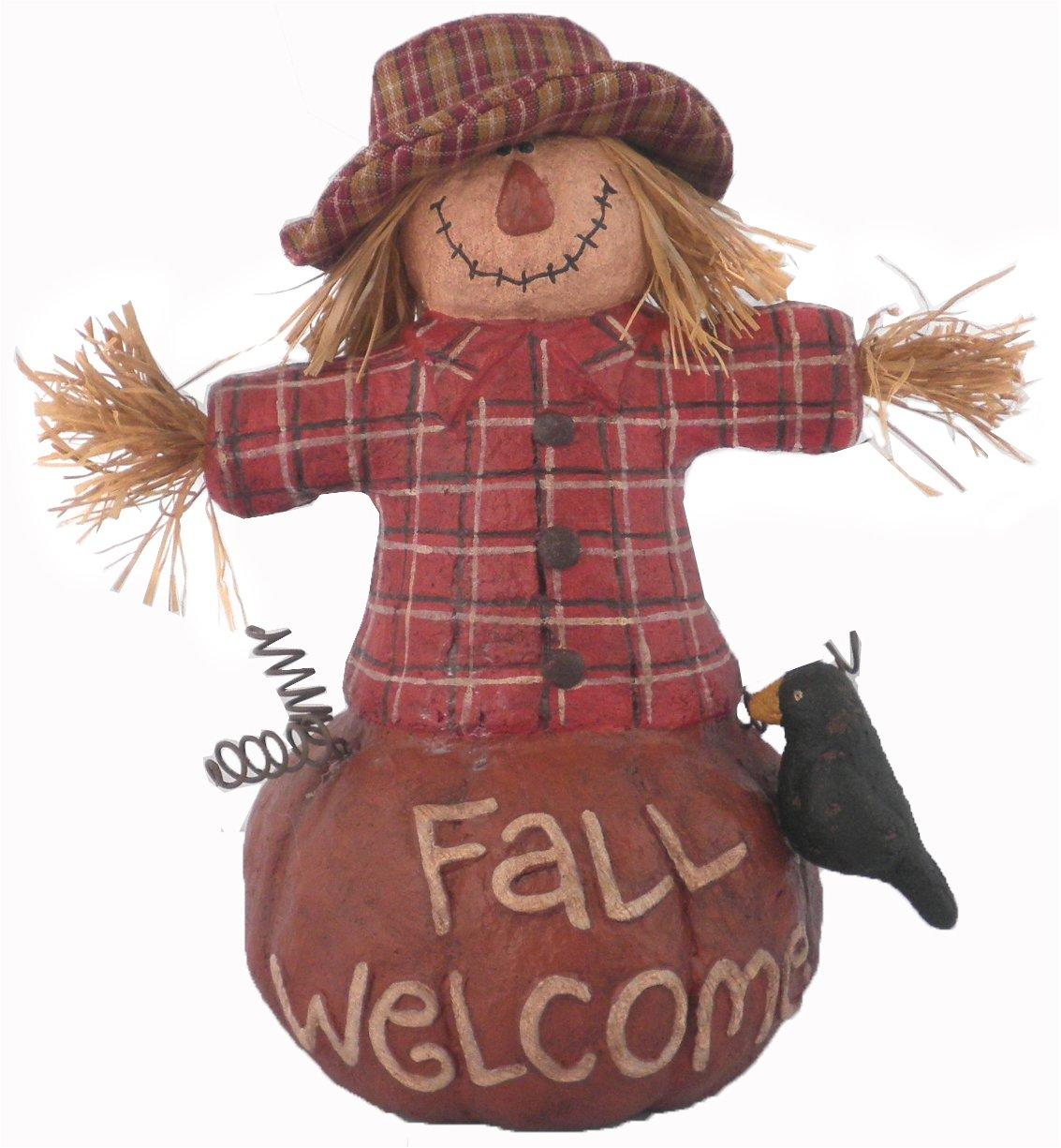 Craft Outlet Papier Mache Scarecrow Figurine, 7.25-Inch