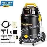 Vacmaster Wet Dry Shampoo Vacuum Cleaner 3 in 1 Portable Carpet Cleaner 8 Gallon 5.5 Peak HP Power Suction Washable HEPA Filter & Cartridge Filter for Carpet, Pet Hair, Sofa, Hard Floor, Car & Garage