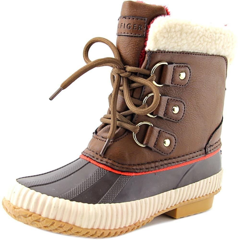 Tommy Hilfiger Womens Ebonie Faux Fur Closed Toe Mid-Calf Cold Brown Size 5.0