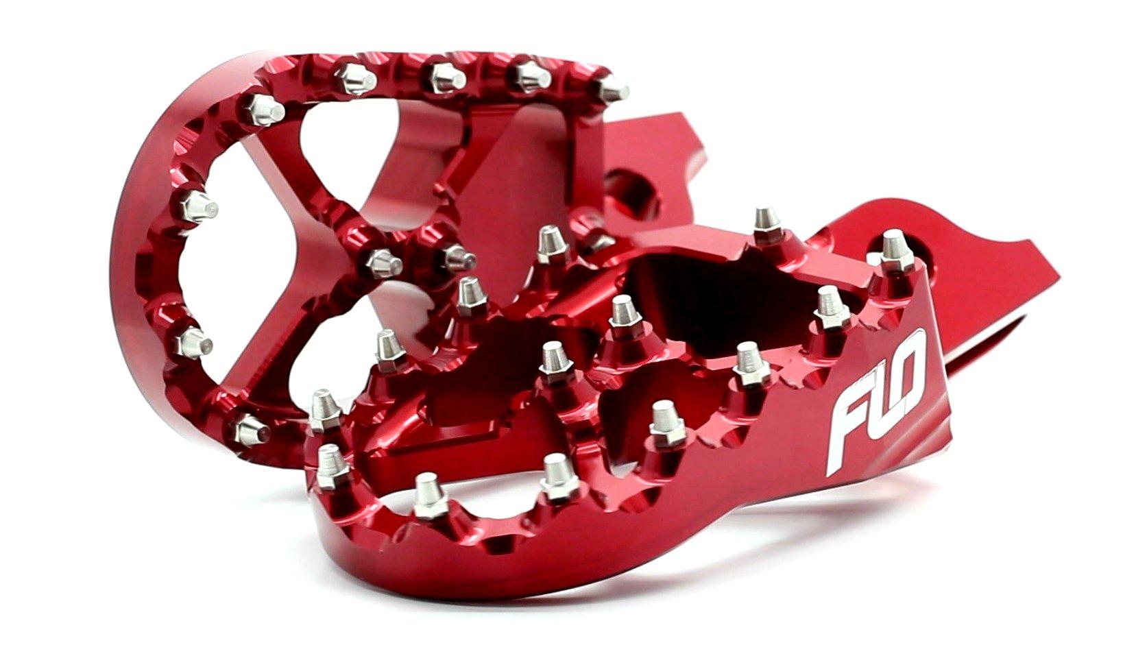 Flo Motorsports Red Suzuki RMZ 250/450 Foot Pegs FPEG-796R