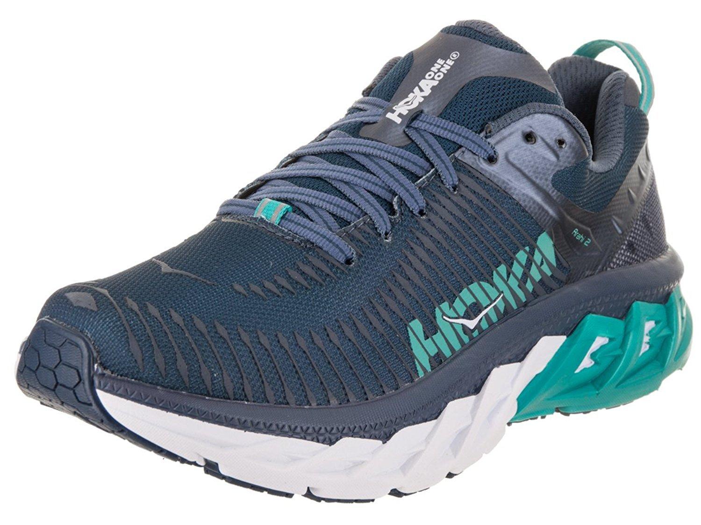 HOKA ONE ONE Women's W Arahi 2 Poseidon/Wintage/Indigo Running Shoe 10 Women US
