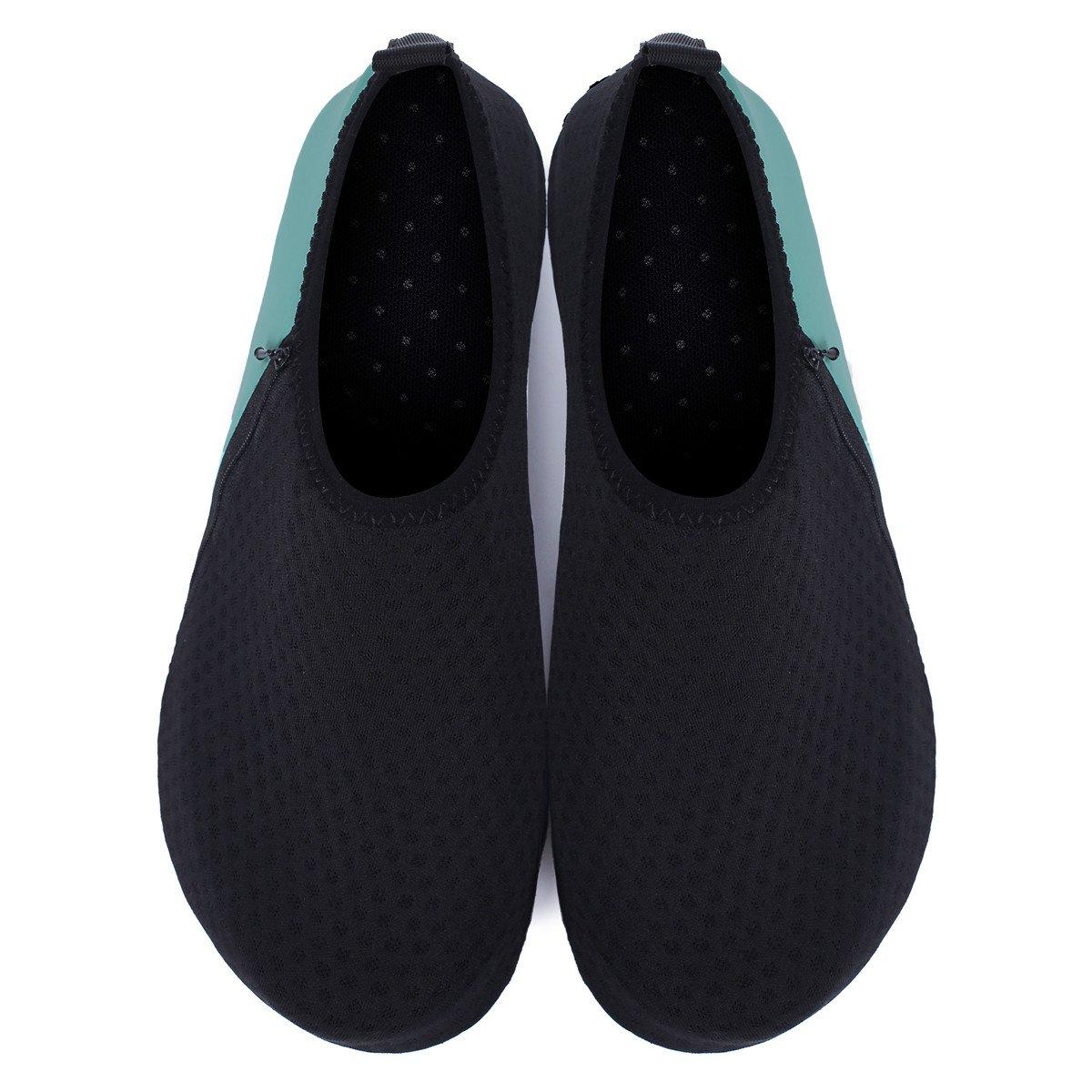 JIASUQI Mens Beach Walking Sandals Water Shoes for Pool Swim Zip Green US 7.5-8.5 Women, 6.5-7.5 Men by JIASUQI (Image #6)
