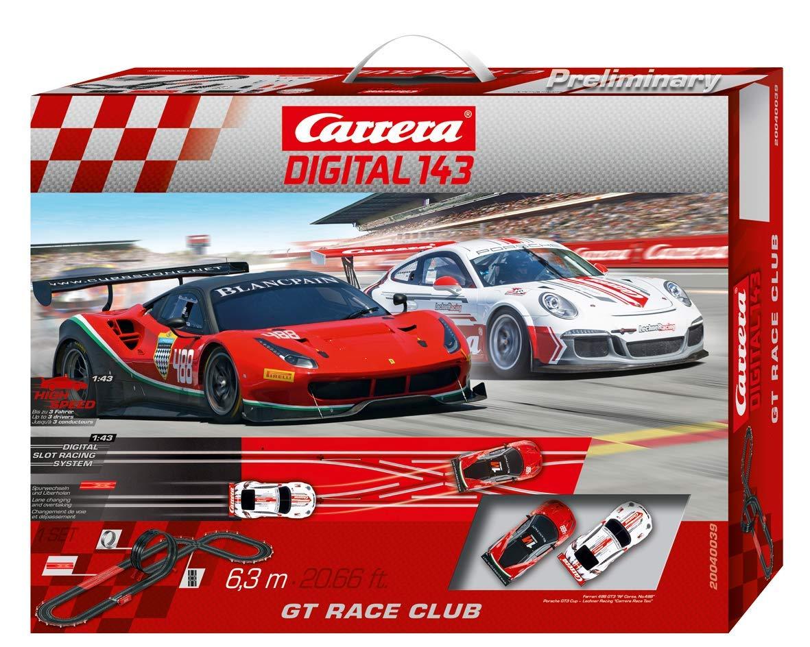 Carrera DIGITAL 143 GT Race Club 20040039 Car Racing Track Set