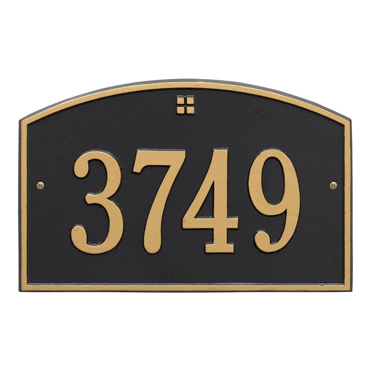 Custom 1 Line Cape Charles Aluminum Address Plaque 15''W x 9.5''H
