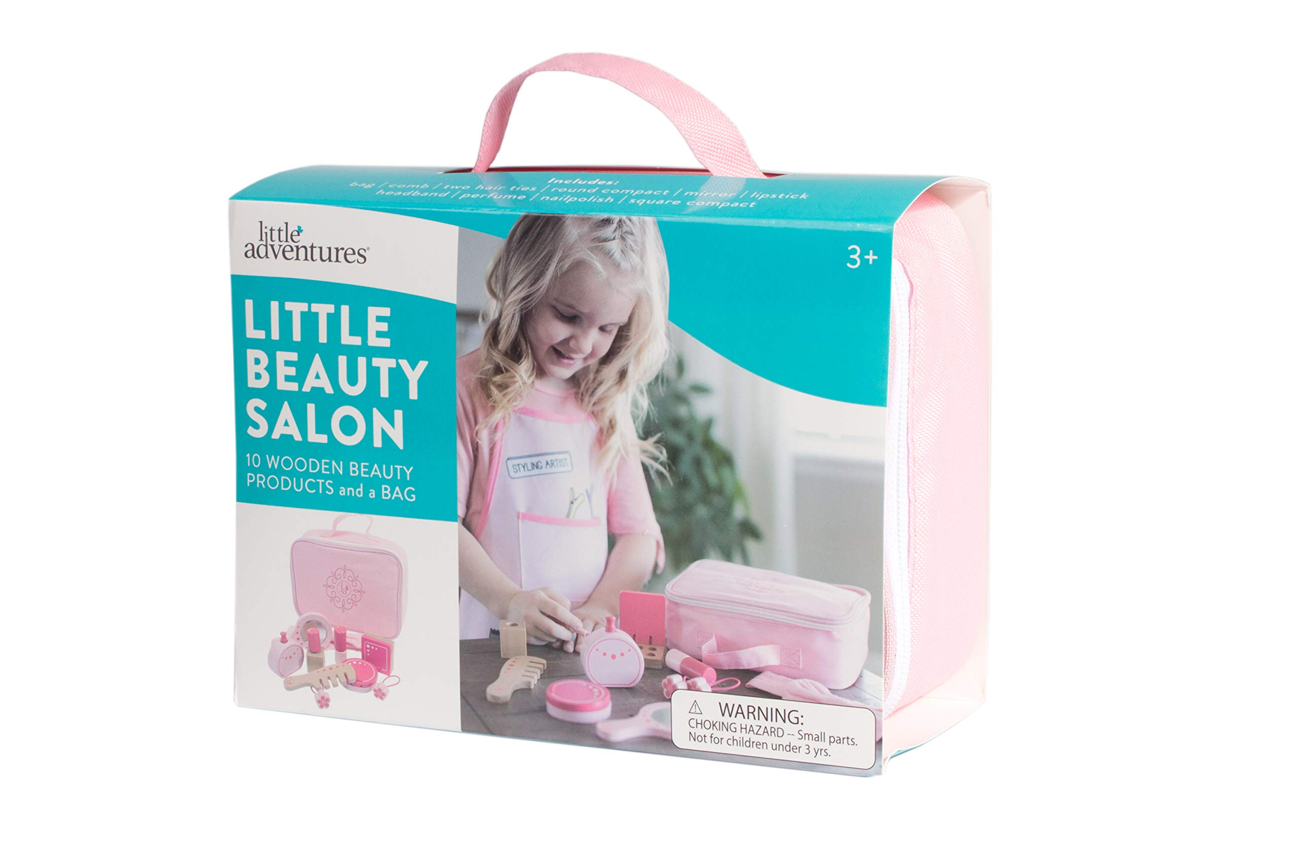 Little Adventures Little Beauty Salon Beautician Wooden Toy Set with Carrying Case Pink by Little Adventures (Image #6)