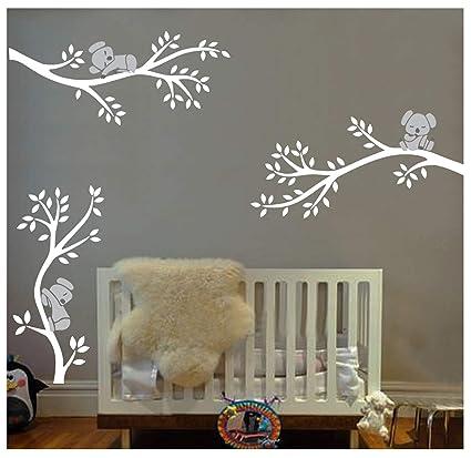 Bdecoll Adhesivo Mural Decorativo De Vinilo 3 Lovely Koalas Vinilo