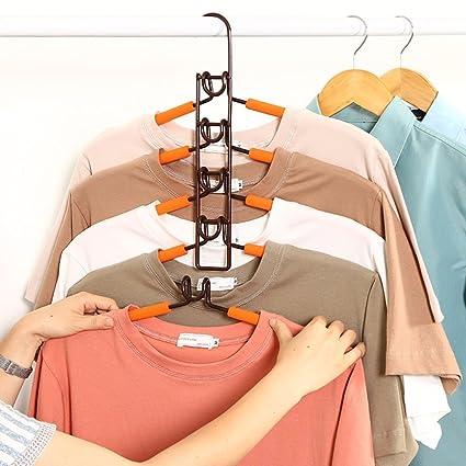 SUPOW ropa Perchas, 5 en 1 multicapa nop-slip ahorro de ...