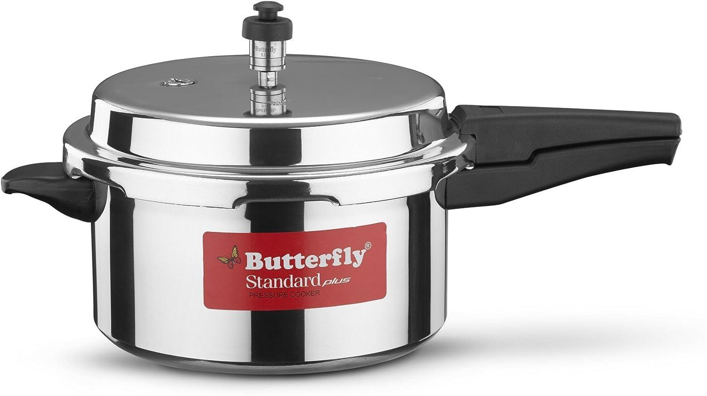 Butterfly SP-5L Standard Plus Aluminum Pressure Cooker, 5-Liter