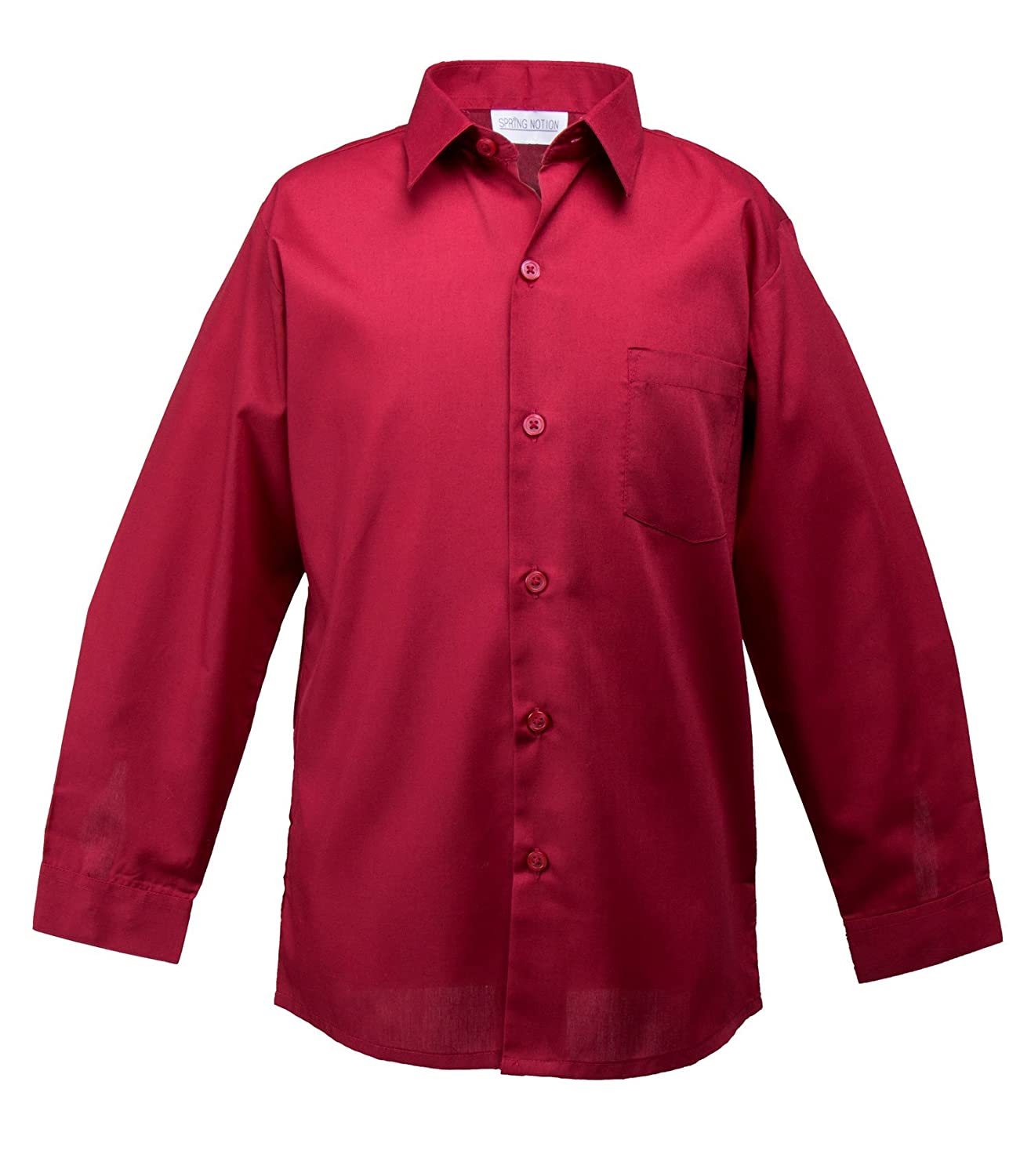 Spring Notion Baby Boys' Long Sleeve Dress Shirt