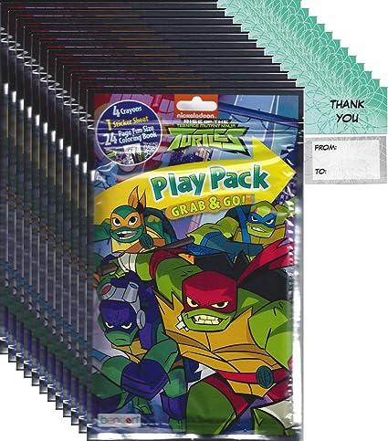 Teenage Mutant Ninja Turtles Grab n Go Play Packs Childrens Party Favor Pack Bundle (12 Packs)