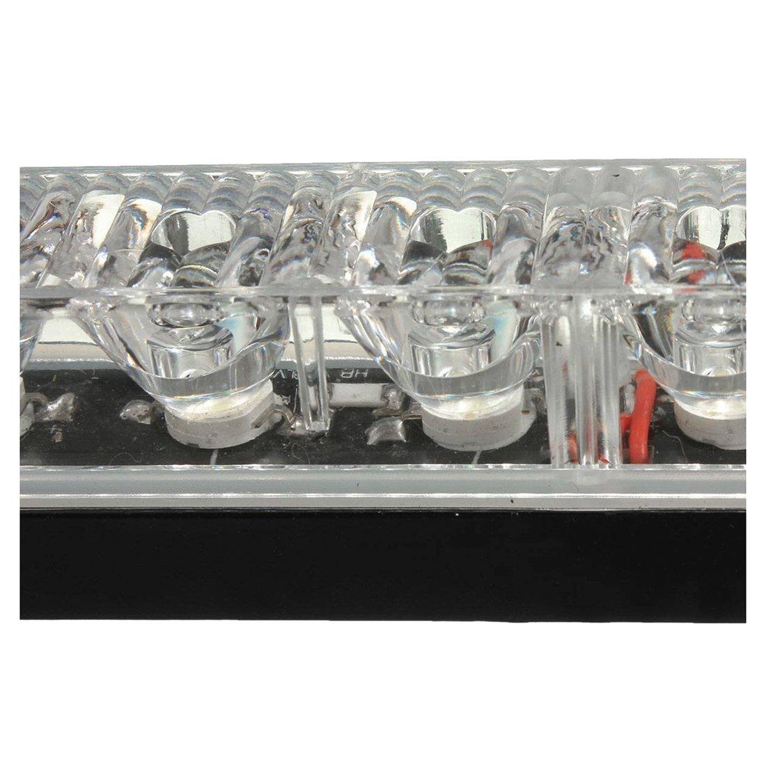Blanc Froid 7000K 2 X18W Feux de Jour Auto Lampe DRL Diurne de Conduite 18 LED Voiture Ampoule 500LM DC 12V SODIAL R LED lampe feu de jour