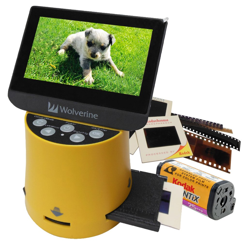 Wolverine Titan 8-in-1 High Resolution Film to Digital Converter with 4.3'' Screen and HDMI Output by Wolverine
