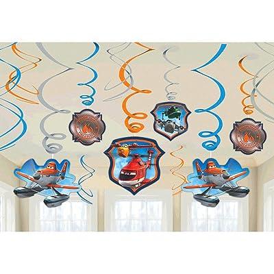 Disney Planes 2 Value Pack Foil Swirl Decorations - 12 pcs: Toys & Games