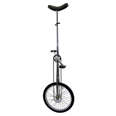 Fun 20 Inch Wheel Super-Tall Chrome Unicycle : Giraffe Unicycle : Sports & Outdoors