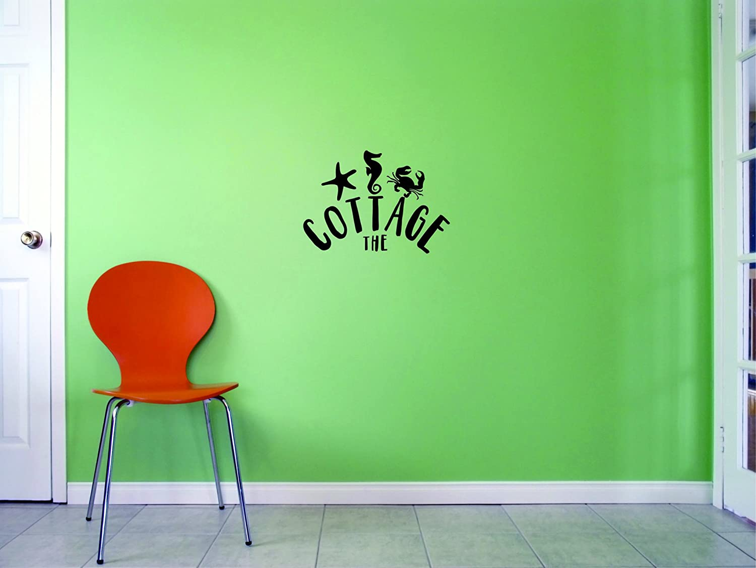 Design with Vinyl JER 2014 1 Hot New Decals The Cottage Wall Art Size: 12 Inches x 18 Inches Color: Black, 12' x 18'