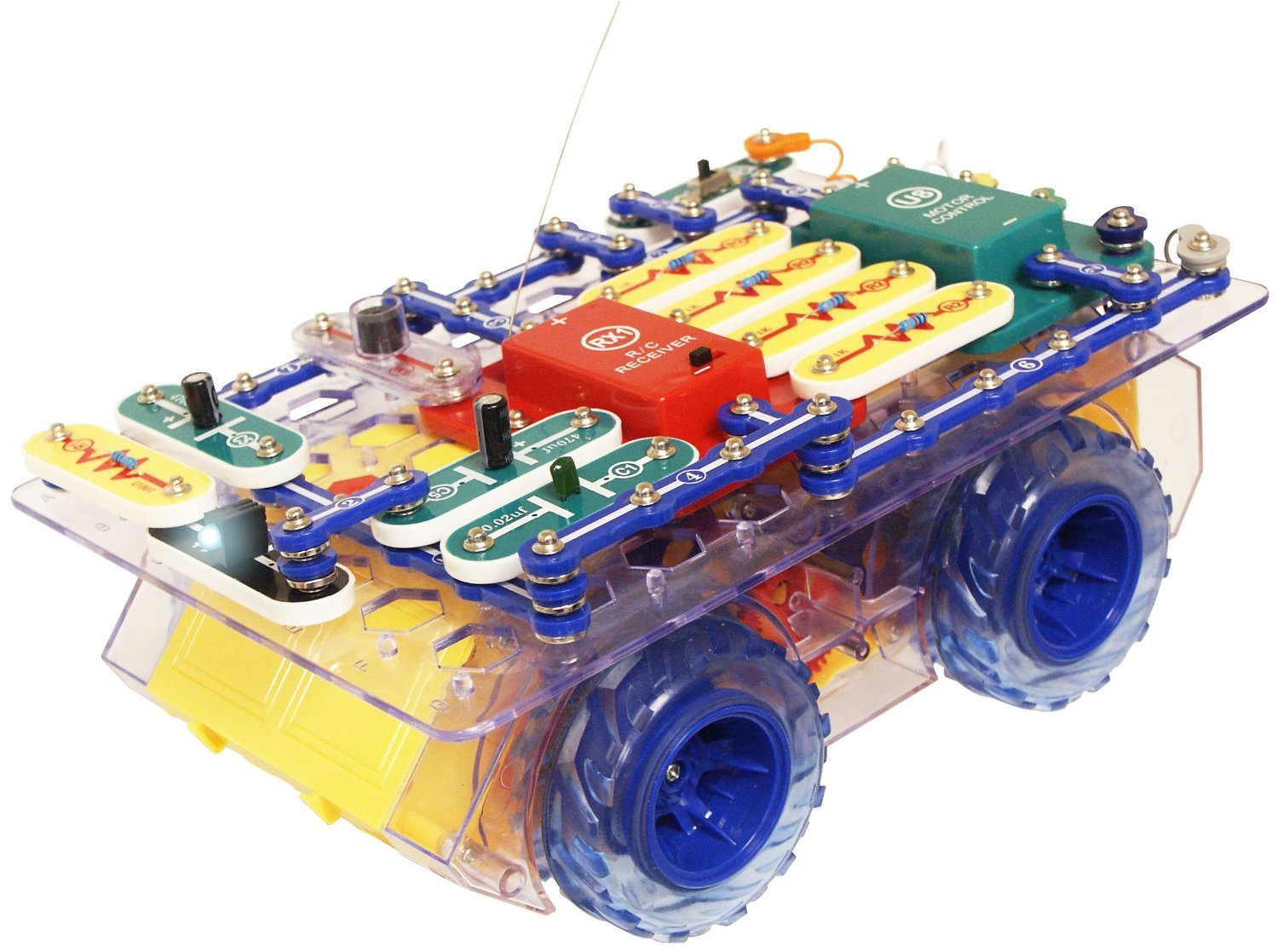 snap circuits r c snap rover electronics discovery kit amazonde