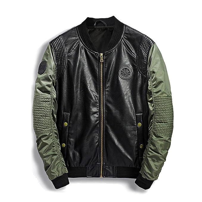 Meaningg 2018 Militar Bomber Jacket Hombres Camo Streetwear Denim de Cuero Camuflaje Ejército Biker Chaquetas Pilots