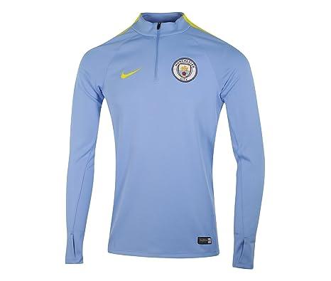 Nike MCFC Y Dril Top SQD Camiseta de Manga Larga Manchester City ...
