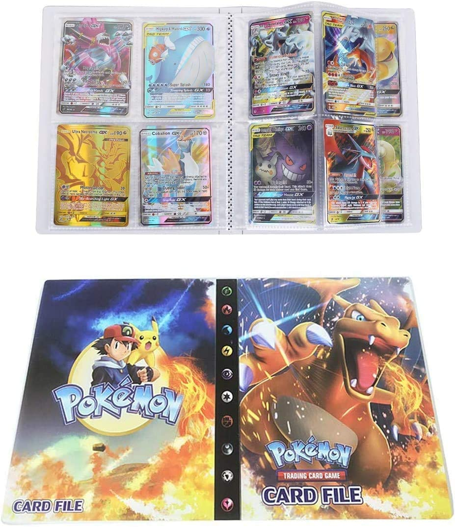 Funmo /Álbum de Pokemon Charizard /Álbum Titular de Tarjetas Pok/émon Pokemon Cards Album Pokemon Cards Album Book La Mejor protecci/ón para Pokemon Trading Cards GX EX