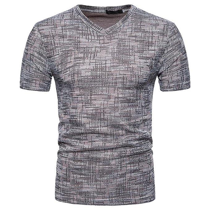 ebd3fbd90c Homebaby® Camicia Uomo Elegante Estivi Maglietta Manica Corta Casual - T- Shirt Uomo Sportivi