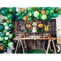 ZINGOORIA | 131 Pcs Jungle Theme Decoration for Birthday Party | Safari Theme Baloon Decoration | Birthday Balloons…