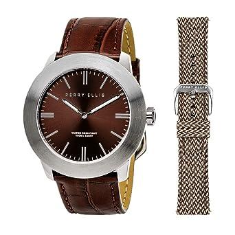 Perry Ellis 03003-01#LS103 - Reloj analógico de Cuarzo para Hombre ...