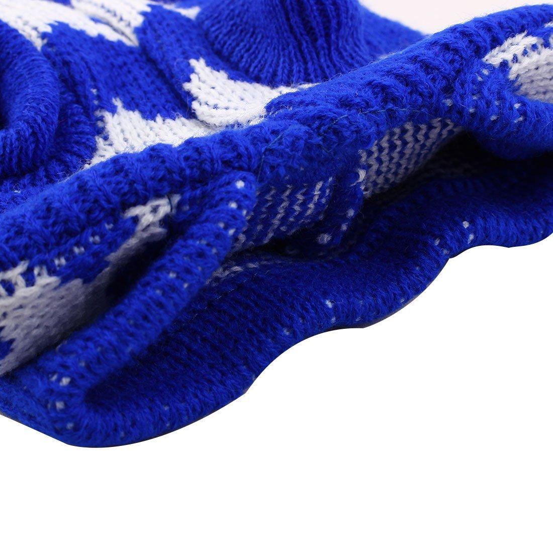 Amazon.com : eDealMax Patrón Estrella de Lana Para mascotas de peluche de Punto Escudo Suéter Caliente la ropa de invierno ropa de vestuario : Pet Supplies