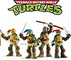 Lalosliv Ninja Turtles 4 PCS Set – Teenage Turtles Action Figure - TMNT Action Figures - Ninja Turtles Toy Set - Ninja Turtles Action Figures Mutant Teenage Set