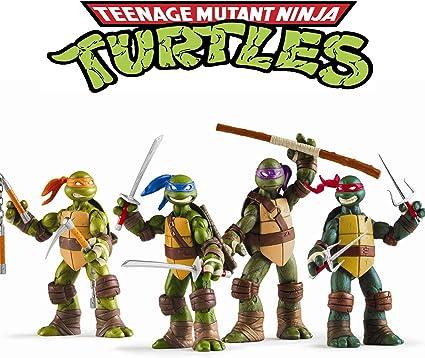 Amazon.com: Juego de 4 Tortugas Ninja de Vitadan – Figura de ...