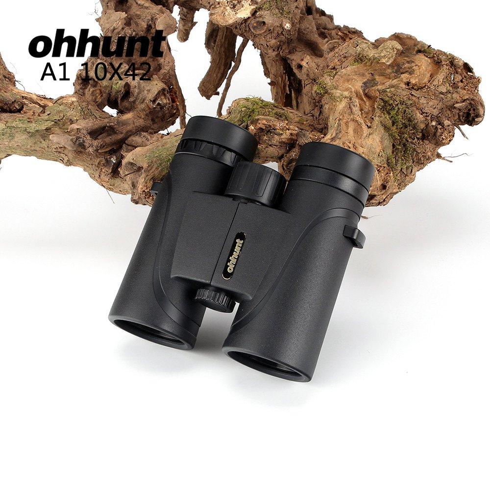 ohhunt A1 10X42 双眼鏡 望遠鏡 狩猟用コンパクト 防水 防曇 耐衝撃 キャンプ/ハンティング/旅行/スポーツイベント/観戦/野鳥観察やライブ B076JDYPMX