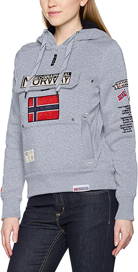 TALLA XX-Large (talla del fabricante: 5). Geographical Norway GWN832F/GN, Sudadera con Capucho Para Mujer