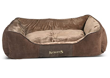 Scruffs Chester Perro Cama, XL, 90 x 70 cm, Color marrón