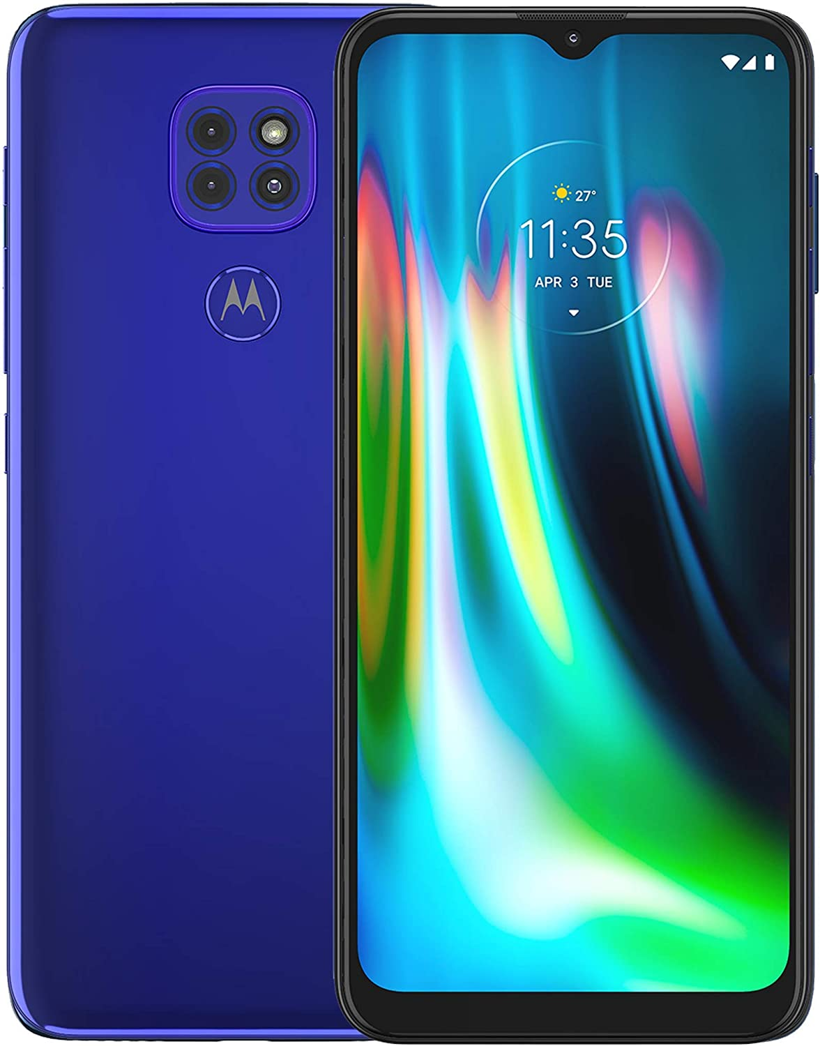 Motorola Moto G9 Play | Unlocked | International GSM Only | 4/64GB | 48MP Camera | 2020 | Sapphire Blue | NOT Compatible with Sprint or Verizon