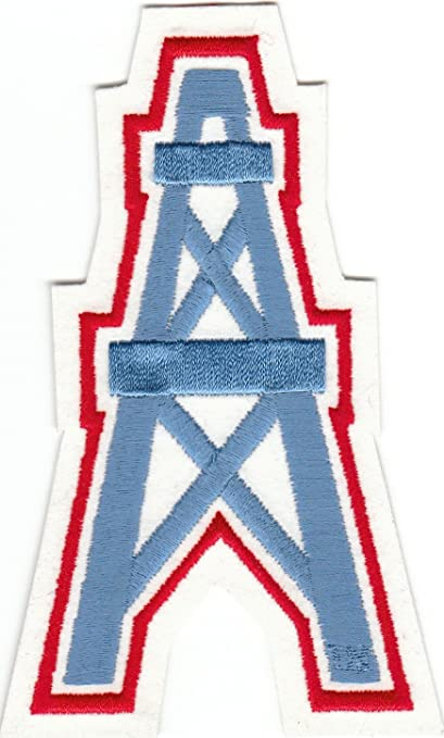 Image Unavailable. Image not available for. Color  Vintage Houston Oilers  Oil Well Logo 5 quot  Patch (sew or iron ... 9cca58a82