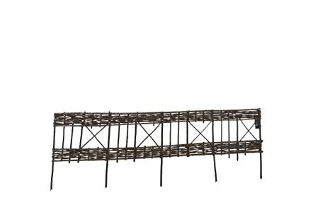 Gentil Master Garden Products Woven Willow Edging With Diamond Pattern, 48 By  16 Inch