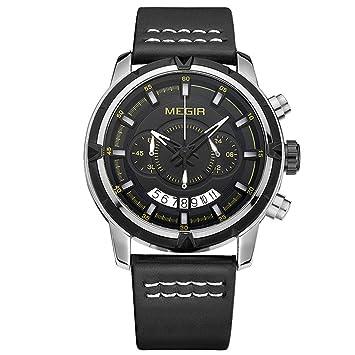 YUNDING Reloj Deportivo Resistente Al Agua Reloj Pulsera Multifunción Puntero Inteligente Microsegundo/Minuto / Reloj/Segundero / Indicador De Fecha, ...