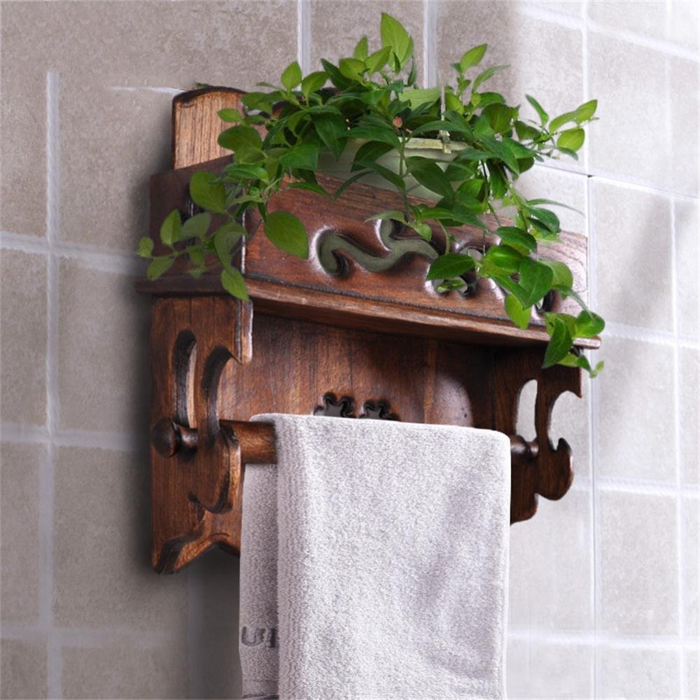 Amazon.com: TOYM US- Solid Wood Kitchen Towel Rack Roll Holder Toilet Tissue Box Creative Retro Phone Toilet Paper Holder (Color : Large) : Home & Kitchen