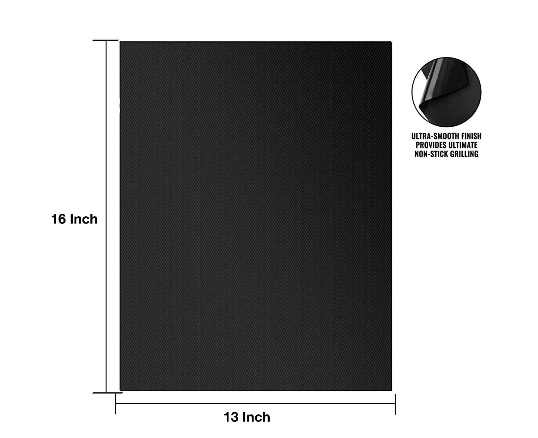 ALLISHOP Alfombra Barbacoa Set de 5 Alfombras 40 x 33 CM BBQ Mat Antiadherente Hoja de Cocina Reutilizable Resistente al Calor y F/ácil de Limpiar para Barbacoa El/éctrica Gas y Carb/ón Amateur