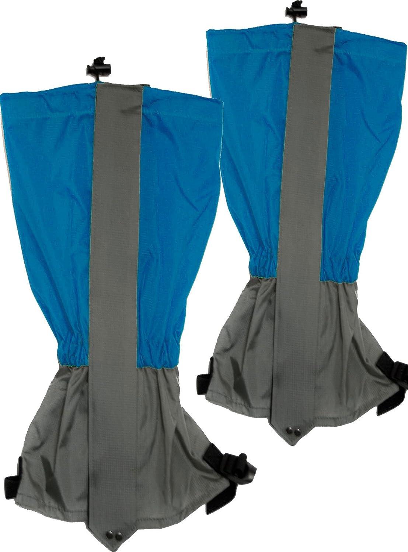 Outdoor Saxx® - Paar Gamaschen | Unigröße wasserdicht strapazierfähig | für Wandern, Ski, Gestrüpp Stiefel-Schutz Wasser-abweisend | 2er Set, blau