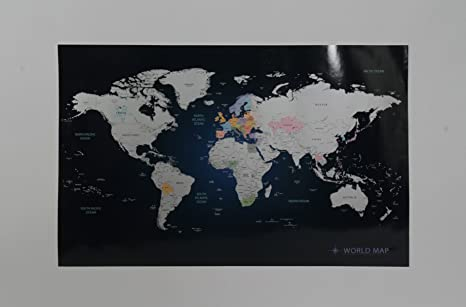 Amazon personalized scratch off world map poster travel indigo personalized scratch off world map poster travel indigo blue gumiabroncs Choice Image