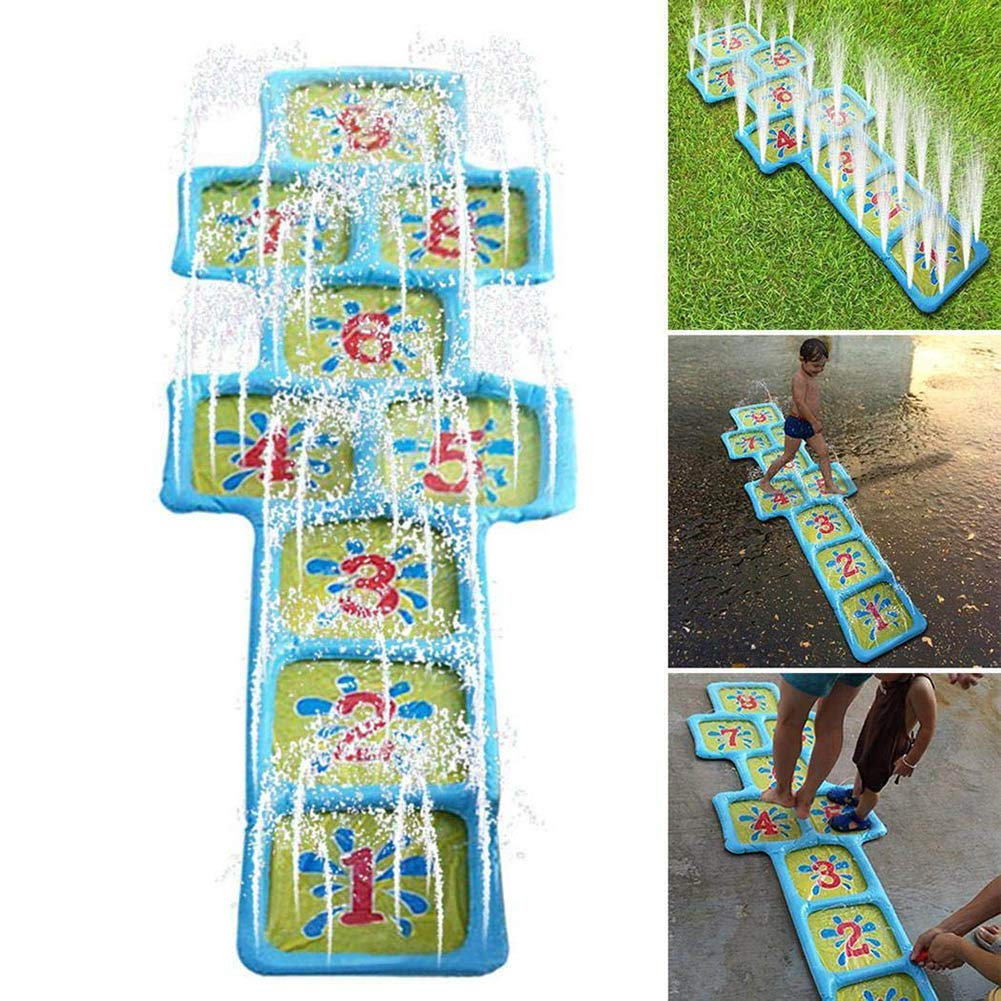 FLH Kids Outdoor Water Spray Pad,Inflatable Water Jet Number Pad Summer Children Outdoor Play Toys Lawn Spray Ball Square Swimming Pool Accessories