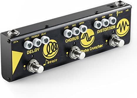 Donner Pedal Multiefectos para Guitarra Alpha Cruncher 3 Tipos ...